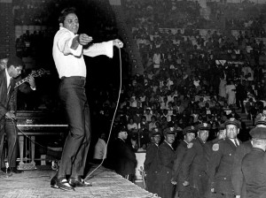 Jackie Wilson On Stage With Policemen Watching