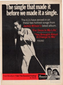 Jackie Wilson newspaper ad