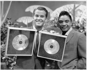 Jackie Wilson with Dick Clark