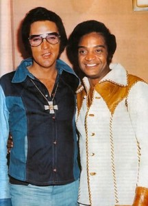 Jackie Wilson with Elvis Presley