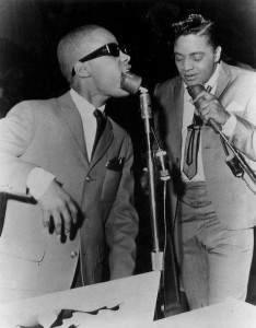 Jackie Wilson with Stevie Wonder